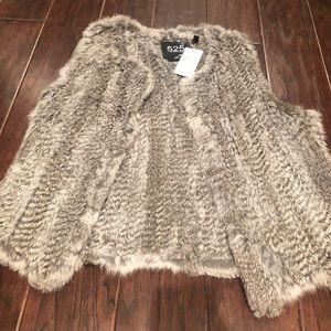 NWT!! 525 America Luxe Rabbit Fur Vest